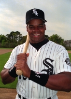 MLB FILE: Frank Thomas of the Chicago White Sox.